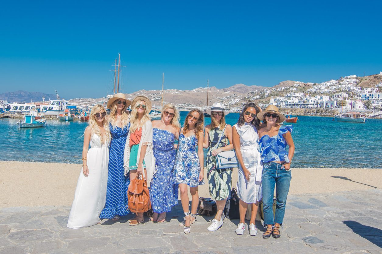 Mykonos Girls Trip, Kate Nelle, A Dash of Darling, Lauren Pruner, Sydne Summer, Gabby Savoie, Taye Hansberry, Krystal Bick