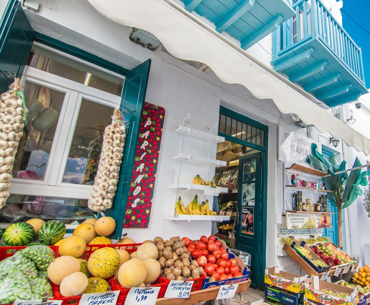 Mykonos Travel Guide local grocery stores