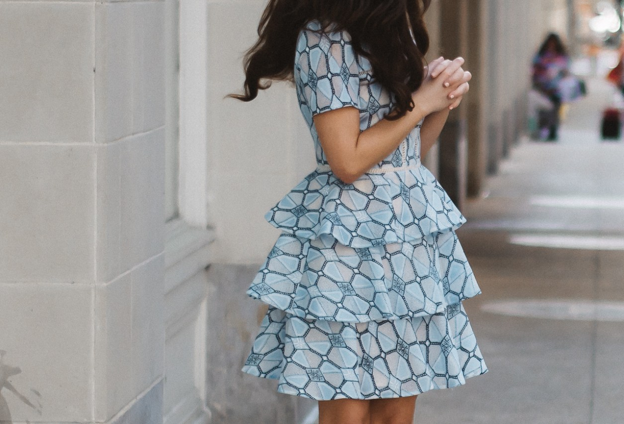 ruffle feminine party dress