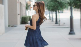 Gianni Bini Navy Halter Dress