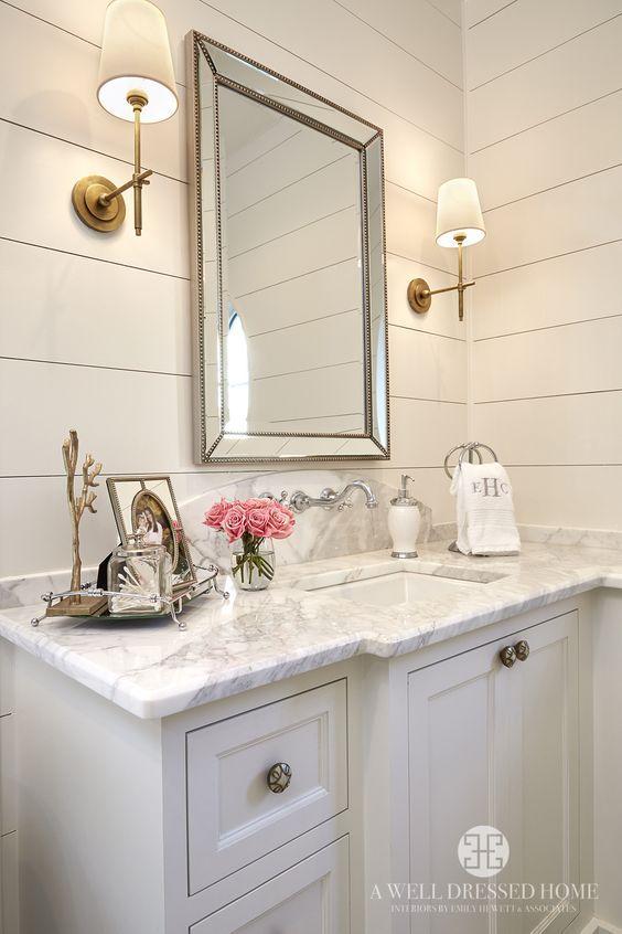 feminine bathroom picture frame