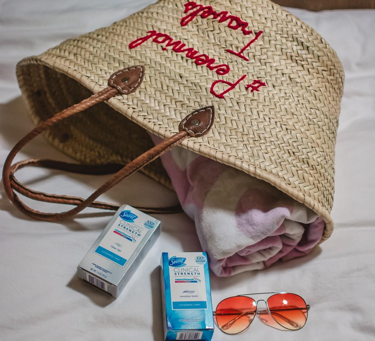 beach bag essentials beauty tips