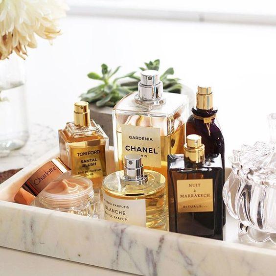 perfume tray bathroom decor