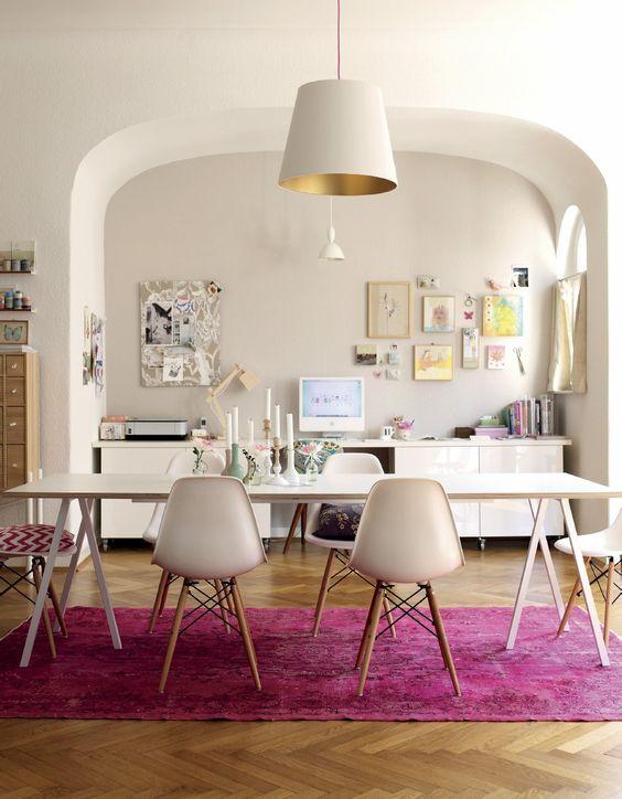 Pink Oriental Rug Dining Room