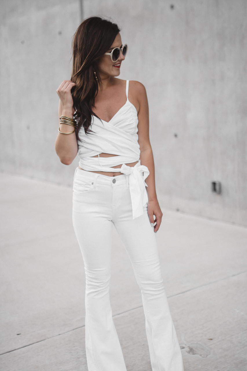 White Crop Top White Flared Jeans (17 of 23)