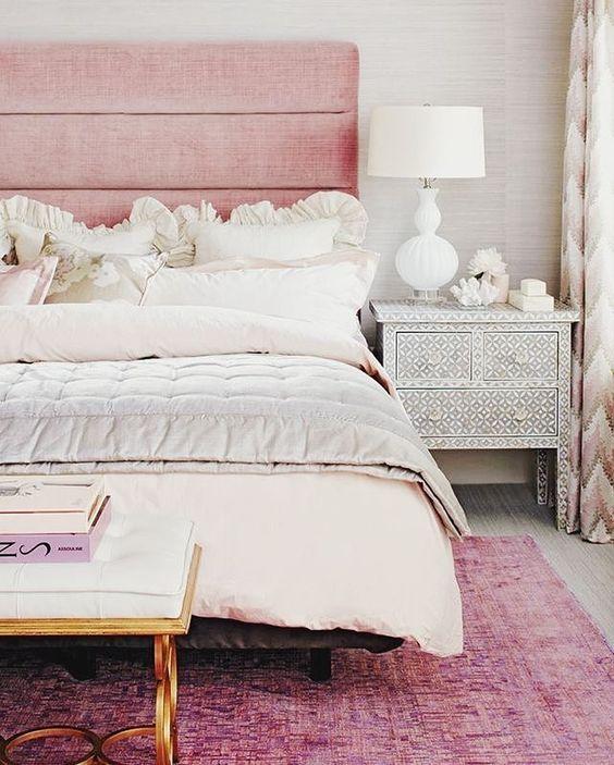 Blush Bedroom Decor Pink Rug