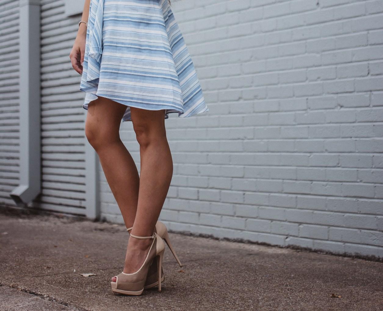 Amanda Uprichard Blue Striped Dress-19