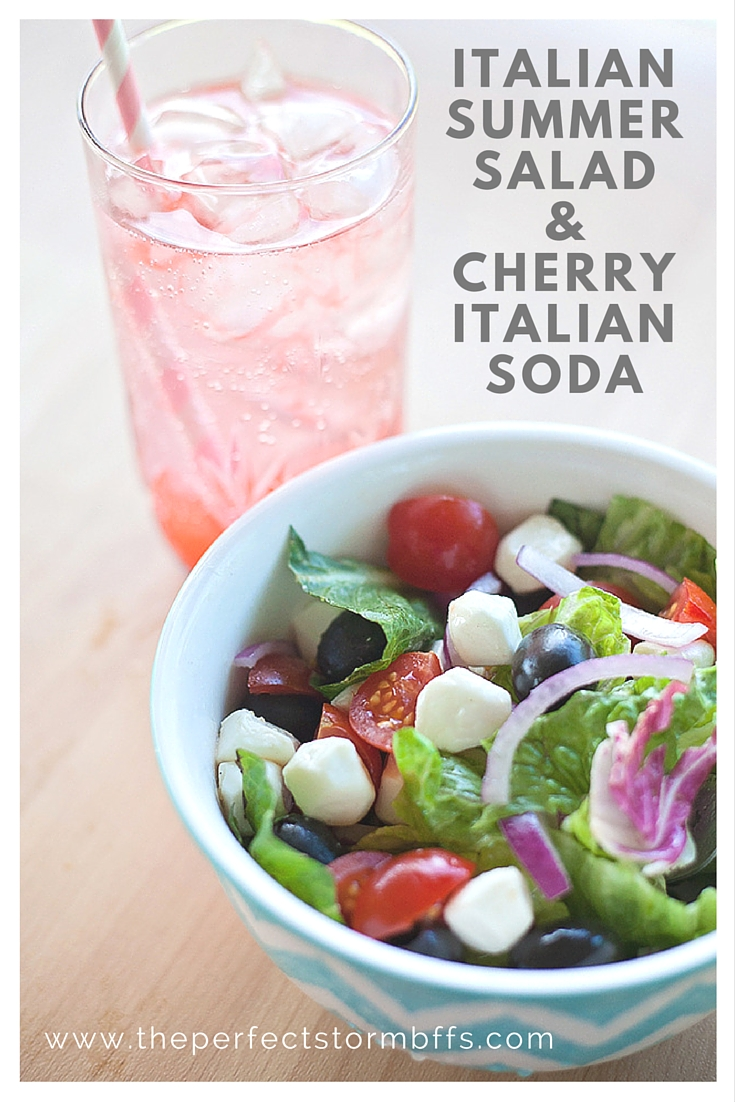 Italian Summer Salad & Cherry Italian Soda with Degustabox