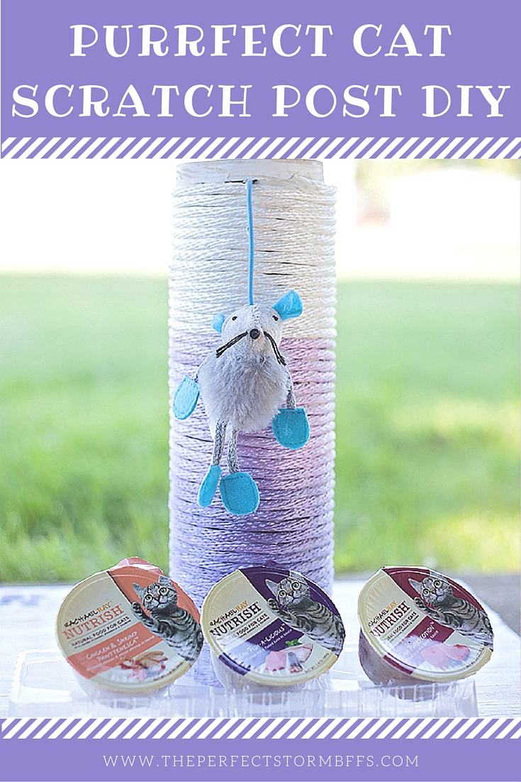 Purrfect Ombre Cat Scratch Post DIY