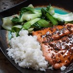 Honey Ginger Salmon with Spicy Baby Bok Choy