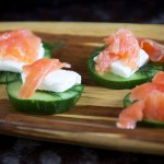 Smoked Salmon & Cucumber Stacks