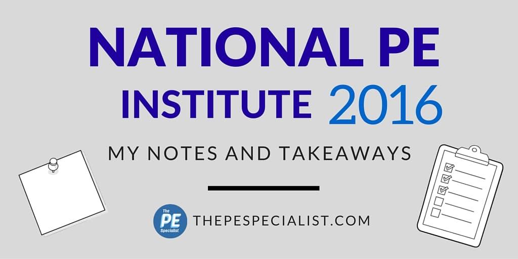 The National PE Institute