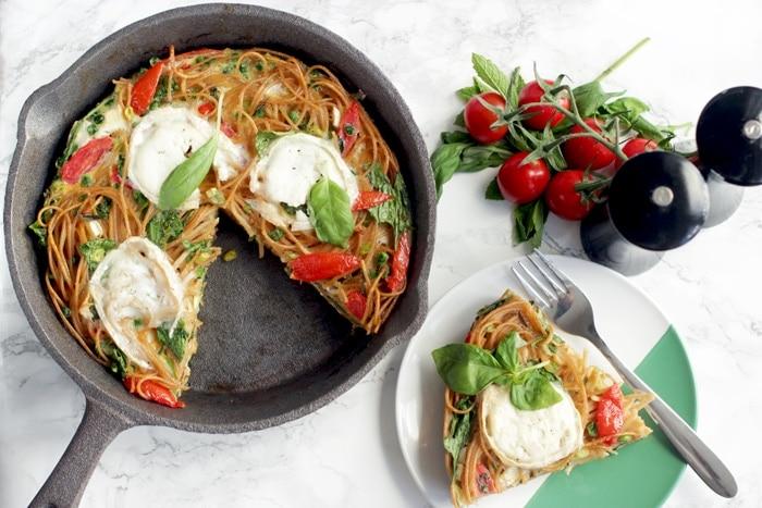 Italian Leftover Spaghetti Frittata - A tasty way to use leftover # ...