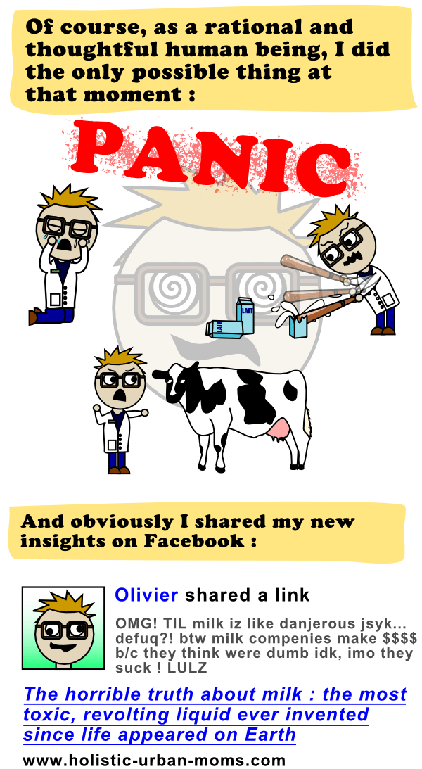 I share my findings about milk on Facebook