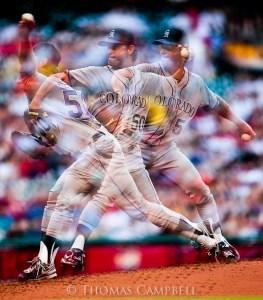 Multiple Exposure Mode on Colorado Rockies pitcher Jamie Moyer