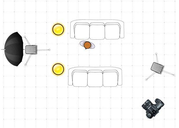 wondering girl - lighting diagram - claude lee sadik
