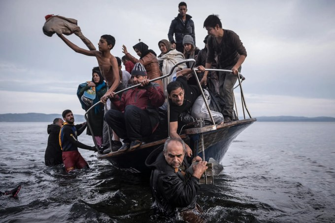 1 - Migrants and refugees arrived by boat in November near the village of Skala on the Greek island of Lesbos. Under Europe's system of open internal borders, the island's thinly patrolled, easily accessible coastline, within sight of the Turkish coast, might as well be the frontier of France or Germany or Sweden.