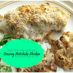 creamy artichoke chicken, chicken, creamy, artichoke, healthy, easy, quick chicken ideas, chicken dinner