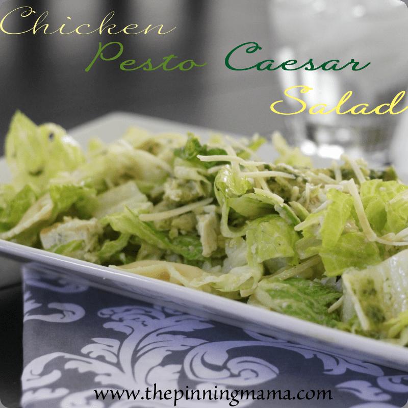{Summer Salads} Chicken Pesto Caesar Salad by www.thepinningmama.com