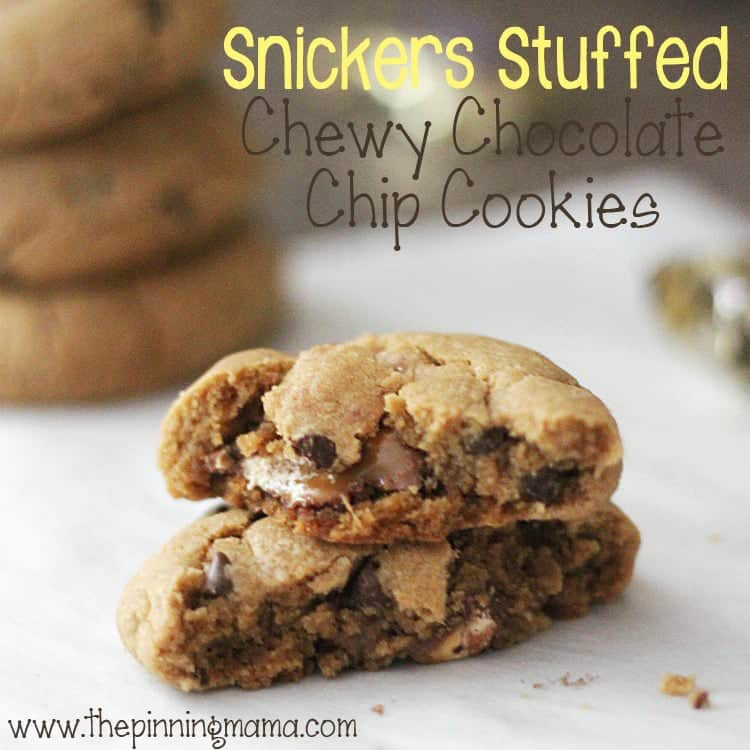 Snicker's Stuffed Chewy Chocolate Chip Cookies: The Ultimate Game Day Dessert