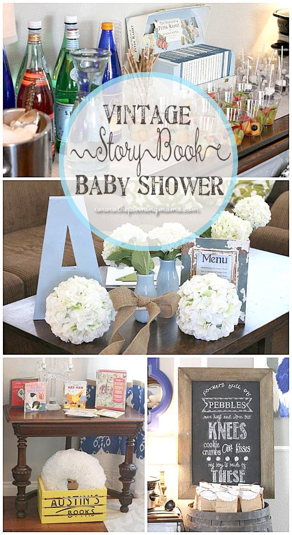 perfect vintage storybook baby shower for baby boy the pinning mama
