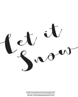 Let it Snow Free Printable and Free SVG Cut File for SIlhouette CAMEO & Cricut