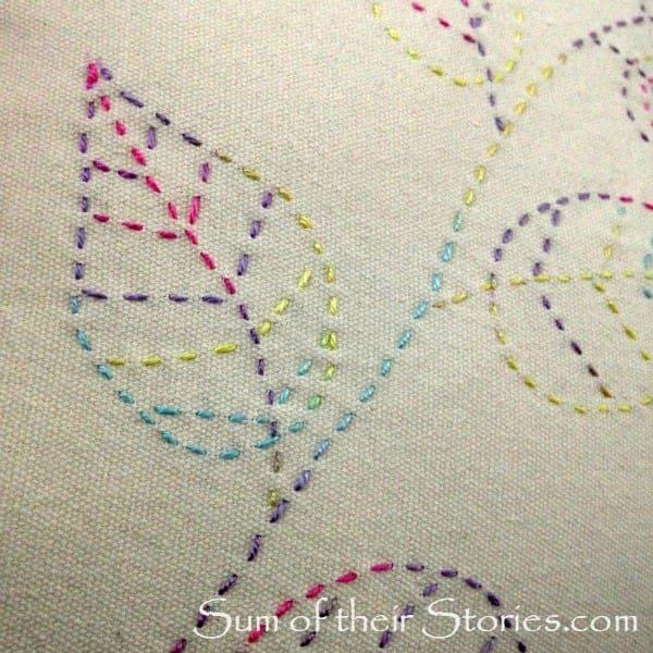 close up of stitching