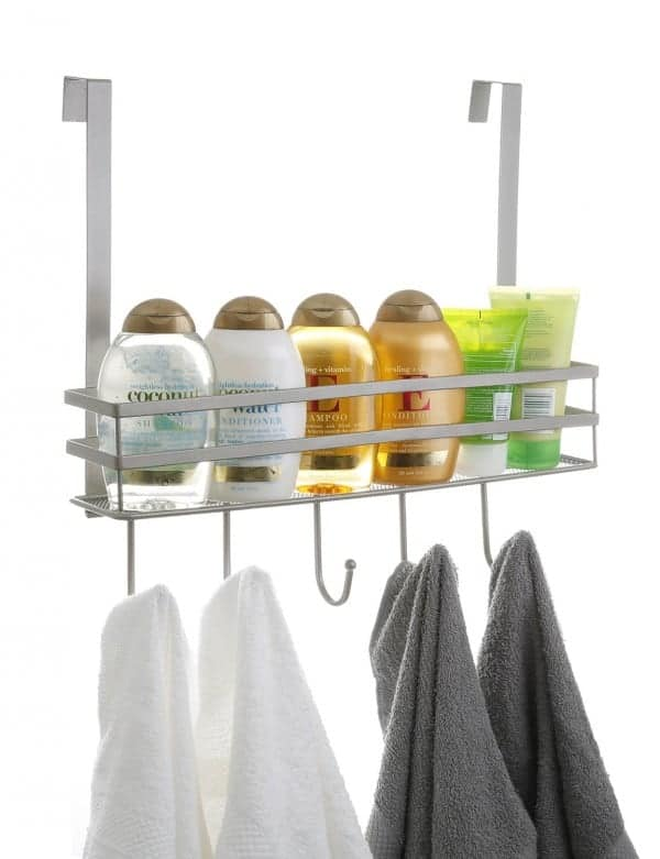Organize a Closet: Over the Door Basket with Hooks