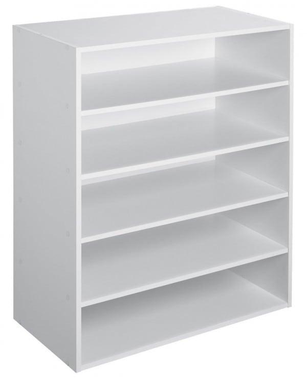 Organize a Closet: Stackable Shelves