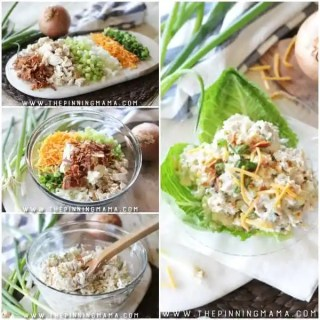8 ingredients in this over the top delicious chicken salad! World's BEST Loaded chicken salad. You will love this recipe!