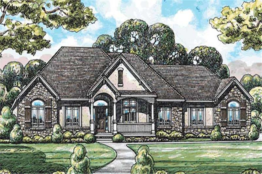 The Plan Collection 1202077  3Bedroom 2641 Sq Ft Country House  1202077 Front