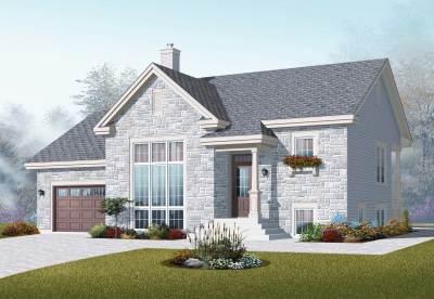 Split-Level House Plans - Home Design 3266