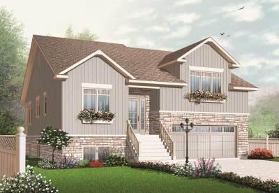 Split-Level House Plans - Home Plan #126-1083