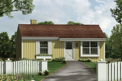 3 Bedrm, 768 Sq Ft Country House Plan #138-1383