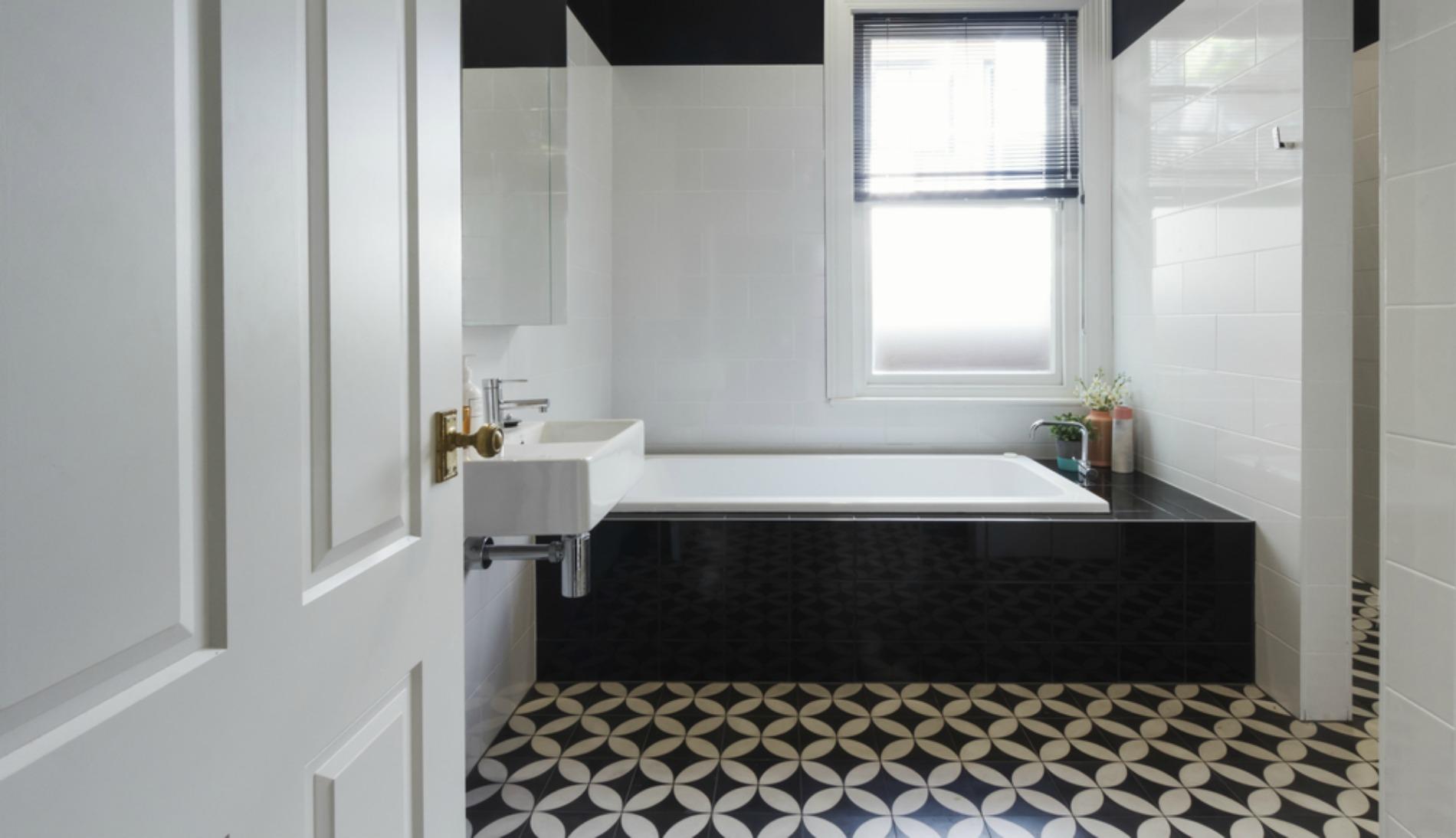 Fullsize Of Black And White Bathrooms