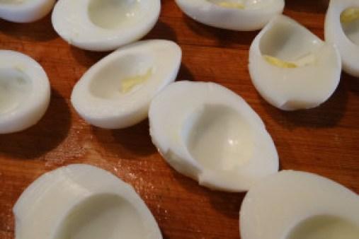 cut eggs