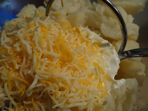 Add in cheese.