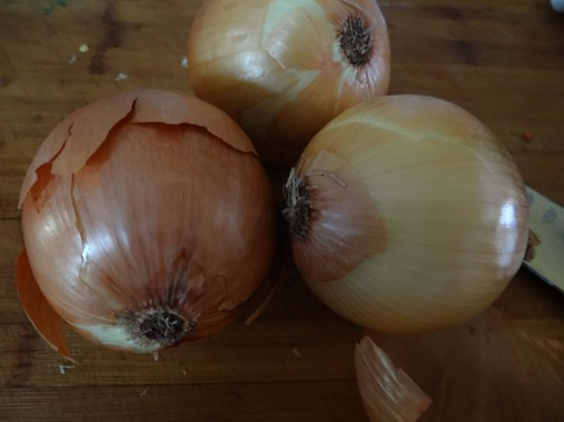 The great thing about this recipe is you can add or take away as many ingredients as you like.  My family likes boiled onions, so we add in three good sized onions.  If you don't care much for them, still add one in for flavor.  If you would like more, go for it.