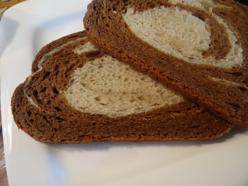 I chose to use marble rye bread. The rye is pretty traditional for a pastrami sandwich, the marble (the darker part) is a pumpernickle bread which adds just a touch of sweetness which will be reflected later in the sandwich building.
