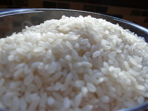 Measure out your rice.  This is NOT par boiled, medium grain rice.  Uncle Bens does not work here, neither does any kind of quick cooking rice.  Just good old fashioned rice.  I like River Rice.