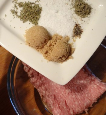Add your spices into your meat.