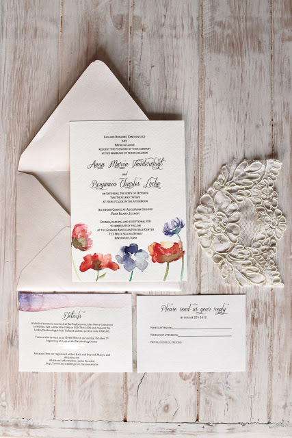 DIY Watercolor Wedding Invitations | Annika Likes