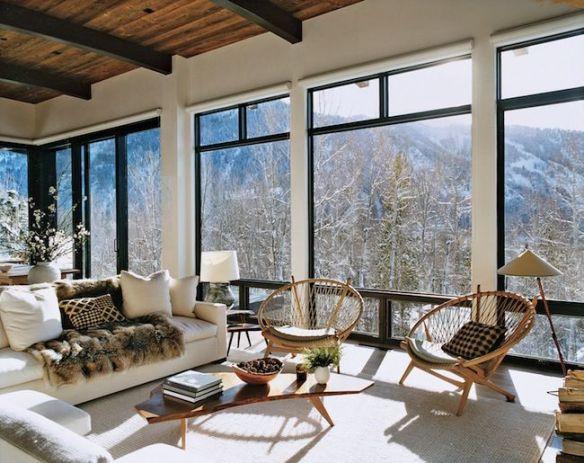 Aerin Lauder Aspen Home via dicorciadesign