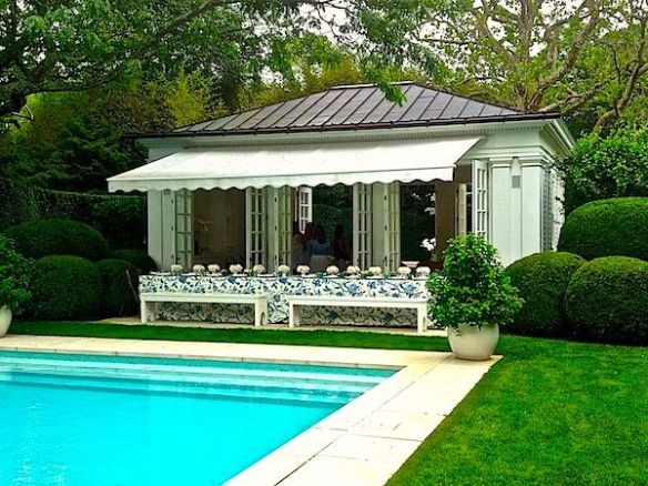 Aerin Lauder Hamptons Pool House via Quintessence