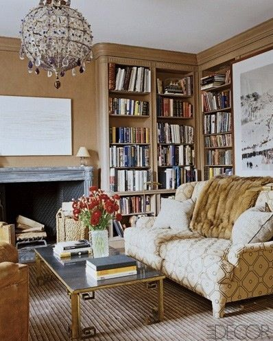 Aerin Lauder Library via Elle Decor