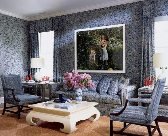 Aerin Lauder Living Area via Vogue