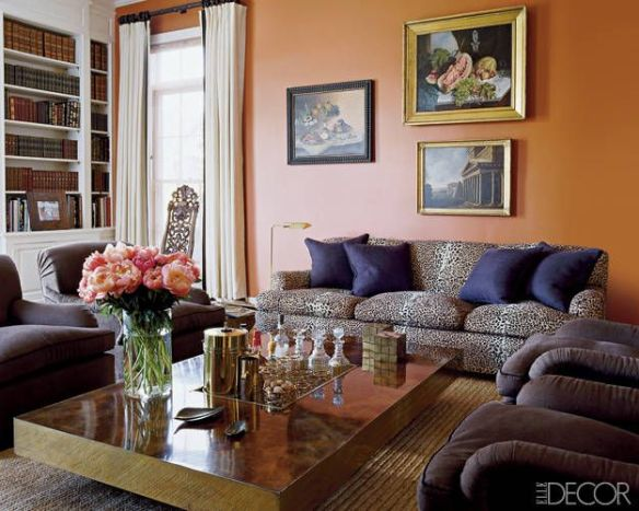 Aerin Lauder Living Room via Elle Decor