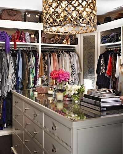 Cool Chandeleir Closet via Pinterest
