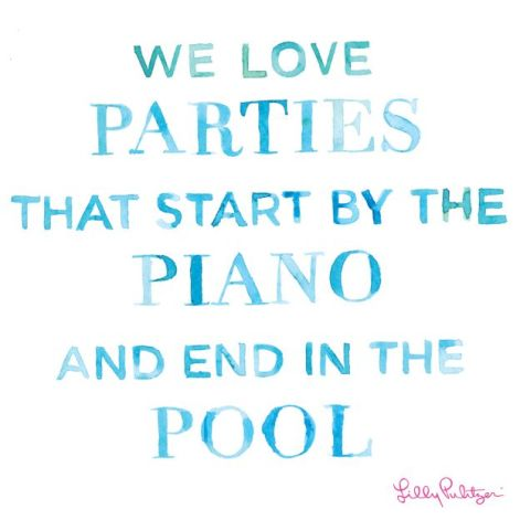 Lilly Pullitzer Pool Quote