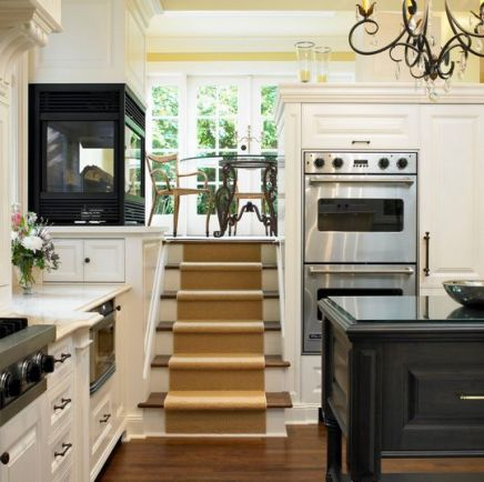 Stairs in the Kitchen via Jo Ann Richards
